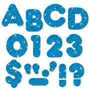 Trend Enterprises – Lettres majuscules prédécoupées Ready Letters, décontractées et scintillantes, 2 po, bleu (T-510)