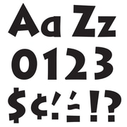"""Trend 4"""" Ready Letters, Venture, Black Combo Pack"""