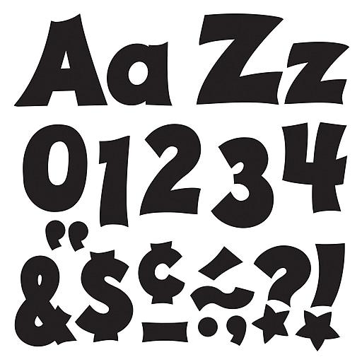"Trend Enterprises® Friendly 4"" Uppercase/Lowercase Ready Letters® Combo Pack, Black"