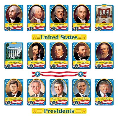 Trend Enterprises® Bulletin Board Set, U.S. Presidents, 54/ST, 2 ST/BD