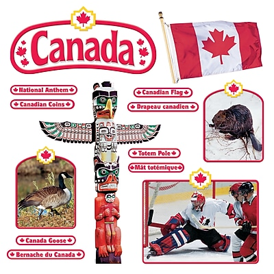 Trend Bulletin Board Set, Canadian Symbols