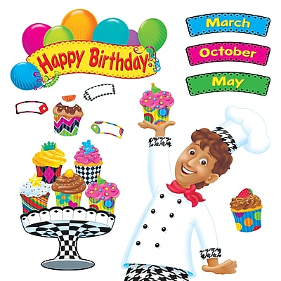 Happy Birthday Bake Shop Bulletin Board Set