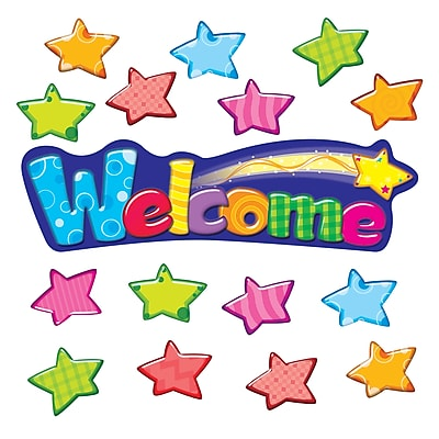 Welcome Stars Mini Bulletin Board Set, 34 pieces