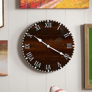 essex hand crafted wood products Oversized 18'' Colchester Reclaimed Style Round Wood Wall Clock