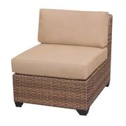 TK Classics Laguna Armless Sectional Chair w/ Cushions; Wheat