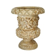 Heather Ann Resin Urn Planter; Light Brown