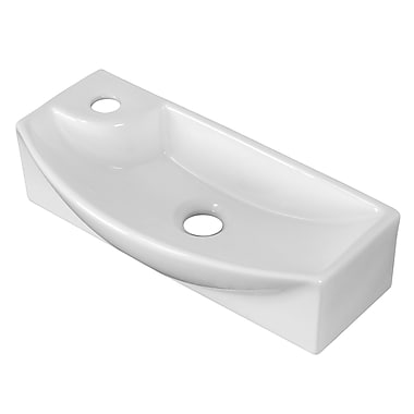 American Imaginations Rectangle Vessel Sink