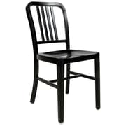 LeisureMod Alton Modern Side Chair; Black