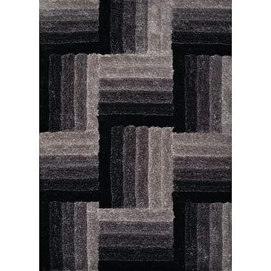 United Weavers of America Finesse Hand-Woven Black Area Rug; 7'10'' x 10'6''