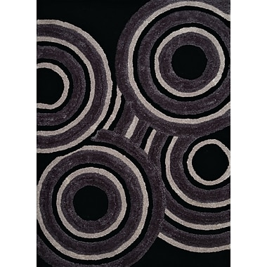 United Weavers of America Finesse Hand-Woven Black Area Rug; 5'3'' x 7'2''
