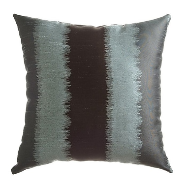 Softline Home Fashions Dream Throw Pillow; Ice Blue / Chocolate