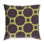 Softline Home Fashions Element Circle Throw Pillow; Chocolate / Kiwi