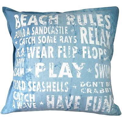 Park B Smith Ltd Vintage House Beach Rules 100pct Cotton Floor Pillow
