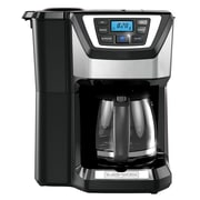 George Foreman Mill and Brew 12-Cup Programmable Stainless Steel Coffee Maker w/ Built in Grinder