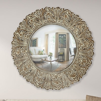 Majestic Mirror Round Beveled Glass Framed Wall Mirror
