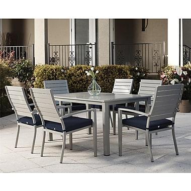 Cosco - Ensemble de salle à manger pour patio, aluminium, 7 pièces