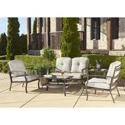 Cosco – Ensemble de meubles de patio en aluminium avec table basse, 5 pièces (0088530DBTTE)