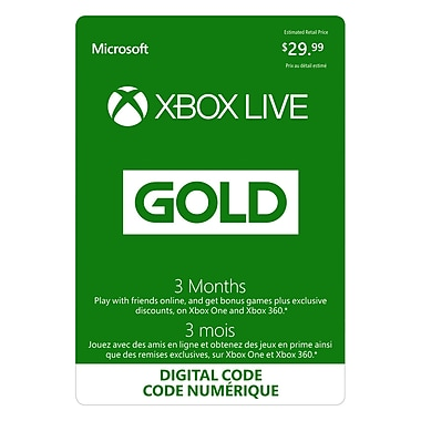 Xbox Live Gold Membership, 3 Month [Download]