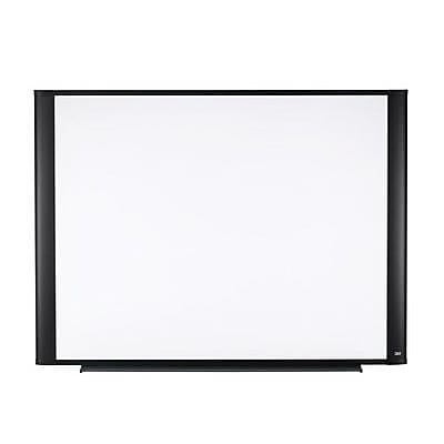 3M™ M3624G Rectangle Widescreen Dry Erase Board, White