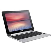 "ASUS® Chromebook Flip C100PA-DS03 10.1"" 2-in-1 Chromebook, 32GB, Google Chrome, Silver"