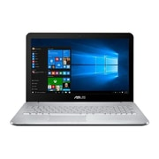 "ASUS® VivoBook Pro N552VW 15.6"" Notebook, LCD, Intel Core i7-6700HQ 2.6 GHz, 1TB, 8GB, Windows 10, Black/Silver"