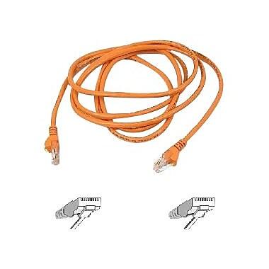 Belkin™ A3L791 Orange 12' RJ-45 Male/Male Cat5e Assembled Patch Cable