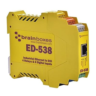 Brainboxes Ethernet to Digital IO Relay Gateway (ED-538)