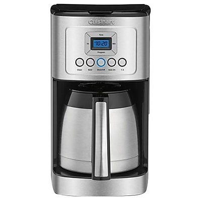 Cuisinart 12 Cups Programmable Thermal Coffeemaker, Black/Stainless (DCC-3400) 2856669