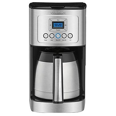 Cuisinart 12 Cups Programmable Thermal Coffeemaker, Black/Stainless (DCC-3400)