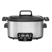 Cuisinart  Cook Central  6 qt 3-in-1 Multicooker, Black/Stainless, Refurbished (MSC-600FR)