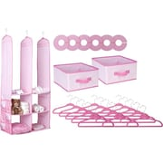 Delta Children® 24 Piece Nursery Storage Set, Barley Pink (SS2056-689)