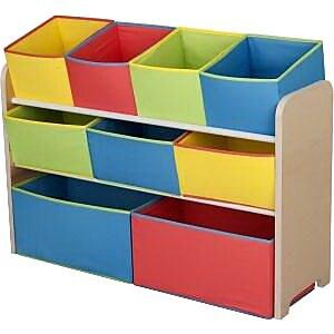 Delta Children Deluxe Toy Organizer With Storage Bin Rack Tb84752gn