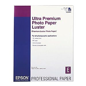 Epson® S042084 25 Sheets/Pack Ultra Premium Luster Photo Paper