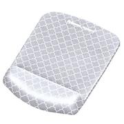 Fellowes® PlushTouch™ Mouse Pad Wrist Rest, Gray Lattice (9549701)
