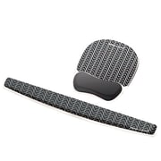 Fellowes® Photo Gel Mouse Pad Wrist Rest, Black Chevron (9549901)