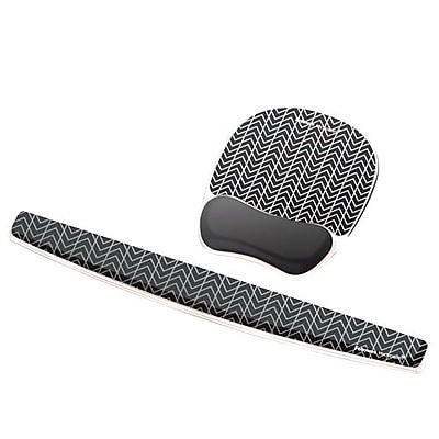 Fellowes® Photo Gel Mouse Pad Wrist Rest, Black Chevron (9549901)