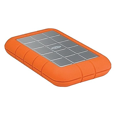 LaCie Rugged Triple USB 3.0 Portable External Hard Drive, 1TB, Orange/Silver (STEU1000400)