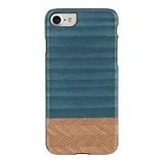 "Man&Wood® M7064B Wood/Polycarbonate Slim Case for 4.7"" Apple iPhone 7, Denim/Black"