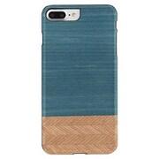 "Man&Wood® M7264B Wood/Polycarbonate Slim Case for 5.5"" Apple iPhone 7 Plus, Denim/Black"