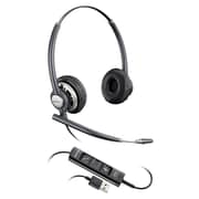 Plantronics® EncorePro700 Series Stereo Corded Over-the-Head Headset with Microphone, Black