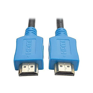 Tripp Lite HDMI Male/Male High Speed Cable, 3', Blue (P568-003-BL)