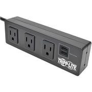 Tripp Lite Protect It! TLP310USBS 3 Outlets 510 J Surge Protector with Mounting Brackets, 10'