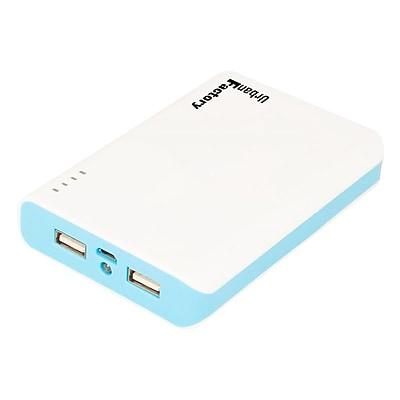 Urban Factory™ Cosmic Emergency Battery, 8000 mAh, Blue/White, Micro USB/USB (BBA08UF)