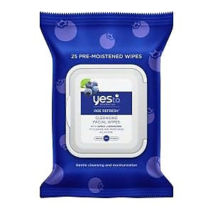 Yes To Blueberries Cleansing Facial Wipes, 25/Pack (7331102) IM11Q1933