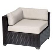 TK Classics Belle Corner Chair w/ Cushions; Beige