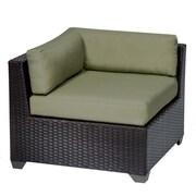 TK Classics Belle Corner Chair w/ Cushions; Cilantro