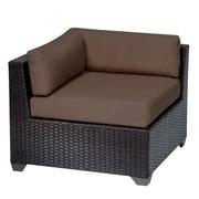 TK Classics Belle Corner Chair w/ Cushions; Cocoa