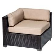 TK Classics Belle Corner Chair w/ Cushions; Wheat