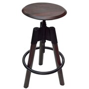 !nspire Adjustable Height Swivel Bar Stool; Walnut