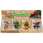 Vandor Marvel 4 Piece 10 oz. Bamboo Cup Set